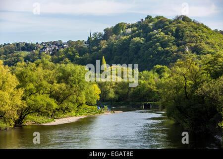 River Ruhr, valley, near Hattingen Blankenstein - Stock Photo