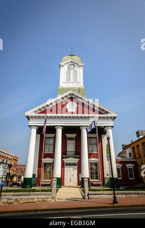 Jefferson County Courthouse, 100 East Washington Street, Charles Town, West Virginia - Stock Photo
