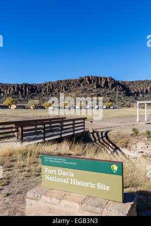 Fort Davis National Historic Site, Fort Davis, Texas, USA - Stock Photo