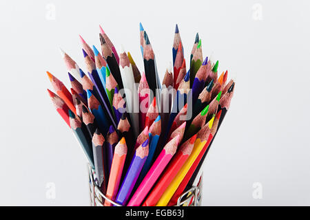 Abundance Drawing Pencil Glass Pen Stand Arranging Education Nobody - Stock Photo