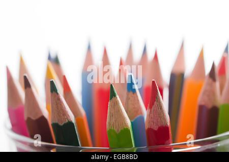 Abundance Drawing Pencil Multi Coloured Education Nobody - Stock Photo