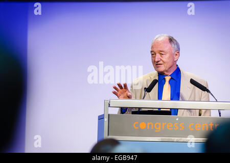 London, UK. 21st Feb, 2015. Ken Livingstone, former London Mayor and member of Labour's National Executive Committee, - Stock Photo