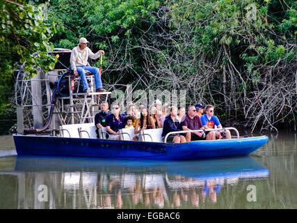 Airboat in Florida Everglades - Stock Photo