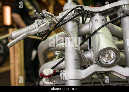 Zurich, Switzerland. 20th Feb, 2015. Spectactular and unusual custom bikes at 'Swiss-Moto', Switzerland's largest - Stock Photo