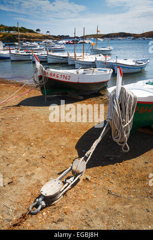 Boats in a beach. - Stock Photo