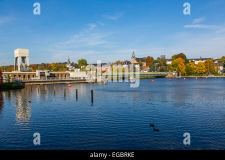 Kettwig, southern part of the town Essen, at river Ruhr, old town, - Stock Photo