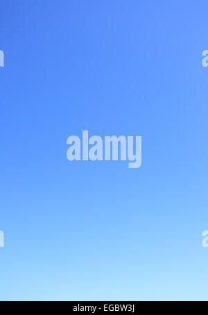 Clear cloudless blue sky, may be used as background - Stock Photo