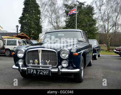 Enfield, Middlesex, UK. 22nd February, 2015. Owners of Rover cars of all ages start the show season with a shiver - Stock Photo