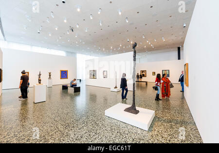 Interior of the Caroline Wiess Law Building at the Museum of Fine Arts, Houston, Texas, USA - Stock Photo