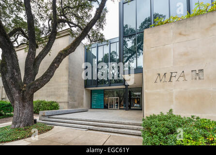 The Caroline Wiess Law Building at the Museum of Fine Arts, Main Street, Museum District, Houston, Texas, USA - Stock Photo