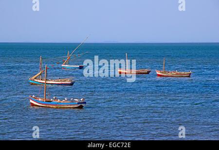 Fishing boats in Maputo, Mozambique - Stock Photo