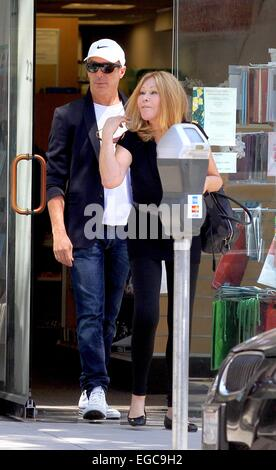 Lloyd Klein and Jocelyn Wildenstein shopping at Super Care Drugs pharmacy in Beverly Hills Featuring: Lloyd Klein,Jocelyn - Stock Photo