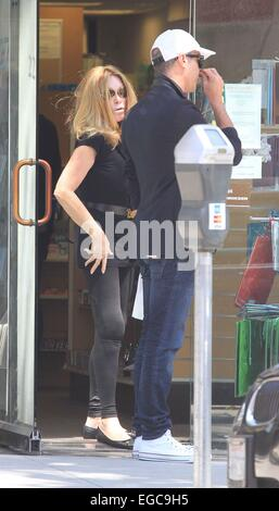 Lloyd Klein and Jocelyn Wildenstein shopping at Super Care Drugs pharmacy in Beverly Hills Featuring: Jocelyn Wildenstein,Lloyd - Stock Photo