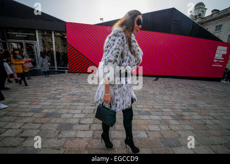 London, UK. 22nd February, 2015. For five days every year the fashion world turns to Britain's capital for London - Stock Photo