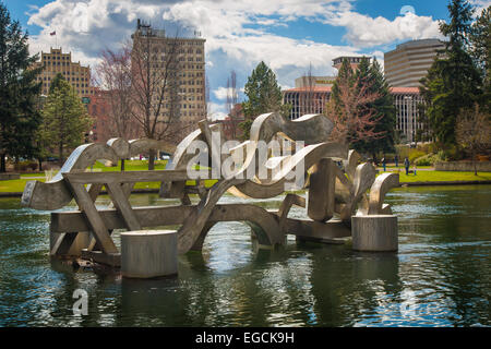 Spokane is a city located in the Northwestern United States in the state of Washington. - Stock Photo