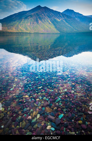 Lake McDonald is the largest lake in Glacier National Park, Montana - Stock Photo
