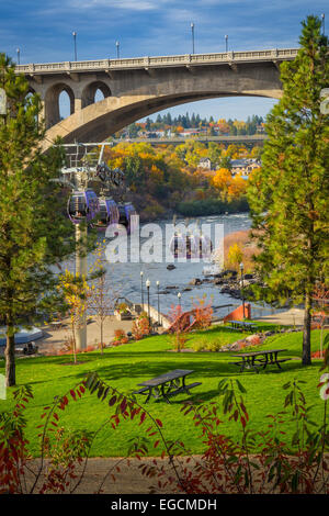 Spokane is a city located in the Northwestern United States in the state of Washington. It is the largest city of - Stock Photo