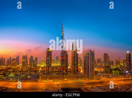 Dubai Skyline - Stock Photo