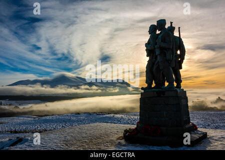 Commando Memorial, Spean Bridge, Lochaber, Scotland, United Kingdom - Stock Photo