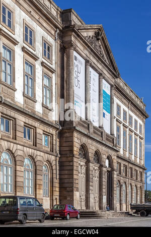 Natural History Museum of Porto University building in Gomes Teixeira Square. Porto, Portugal. - Stock Photo