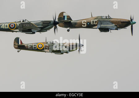 The Battle of Britain Memorial Flight (BBMF) is a Royal Air Force flight which provides an aerial display group - Stock Photo