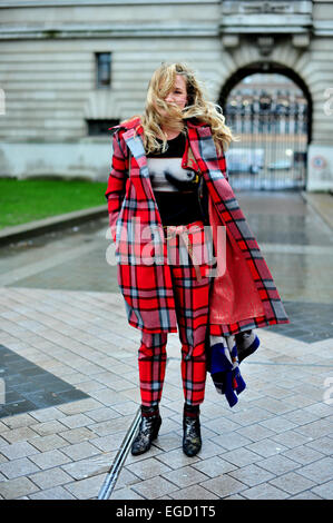 London, UK. 22nd February, 2015. Kat attending Vivien Westwood Red label. Photo : Runway Manhattan/Céline Gaille/Alamy - Stock Photo