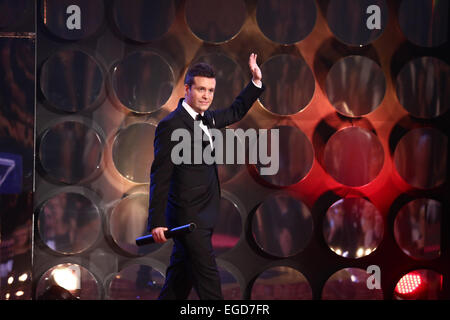 HANDOUT - A handout picture made available on 21 February 2015 by Tomas Martinek shows a man impersonating the actor - Stock Photo