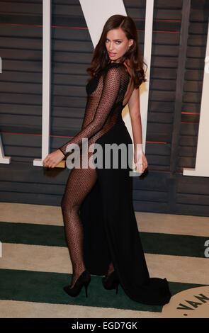 Los Angeles, California, USA. 23rd Feb, 2015. IRINA SHAYK  MODEL  VANITY FAIR OSCAR PARTY 2015  LOS ANGELES, , USA - Stock Photo