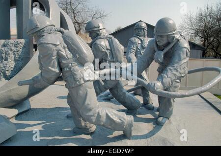 20 years from the nuclear incident of Chernobyl, monument to the 'Liquidators' - Stock Photo