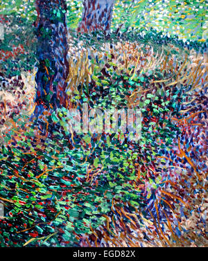 Undergrowth 1887 Vincent van Gogh 1853 - 1890  Dutch Netherlands Post Impressionism - Stock Photo