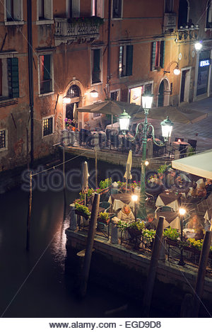 View from the Academia bridge, Grand Canal, Venice, Italy - Stock Photo
