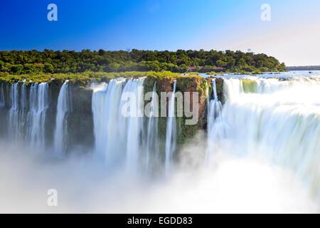 Argentina, Iguazu Falls National Park, (UNESCO Site), Devil's Throat - Stock Photo