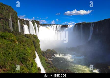 Brazil, Parana, Iguassu Falls National Park (Cataratas do Iguacu) (UNESCO Site), Devil's Throat (Garganta do Diabo) - Stock Photo