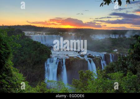 Brazil, Parana, Iguassu Falls National Park (Cataratas do Iguacu) (UNESCO Site) - Stock Photo