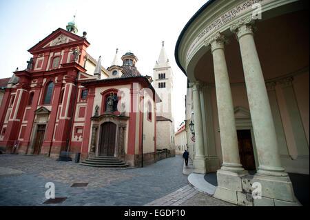 St. George's Basilica, Prague, Czech Republic, Europe - Stock Photo