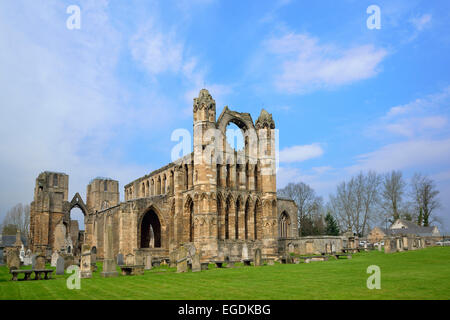 Ruins of Elgin Cathedral, Elgin, Moray, East Coast, Scotland, Great Britain, United Kingdom - Stock Photo
