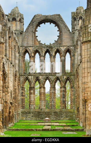 Ruins of Elgin Cathedral, Elgin Cathedral, Elgin, Moray, East Coast, Scotland, Great Britain, United Kingdom - Stock Photo