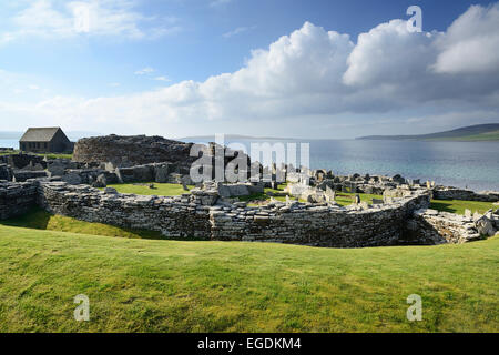 Neolithic settlement Broch of Gurness, Broch of Gurness, UNESCO World Heritage Site The Heart of Neolithic Orkney, - Stock Photo