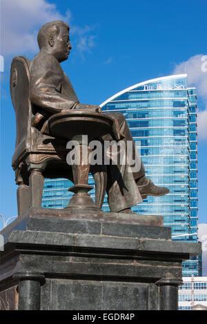 Statue of Tsedenbal, Ulaanbaatar, Mongolia - Stock Photo