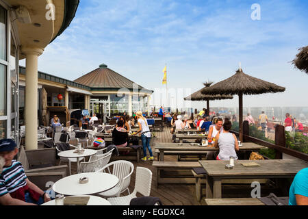 Cafe on the seafront, Norderney Island, Nationalpark, North Sea, East Frisian Islands, East Frisia, Lower Saxony, - Stock Photo