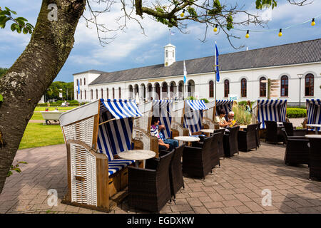 Cafe Extrablatt and Conversation building, Norderney Island, Nationalpark, North Sea, East Frisian Islands, East - Stock Photo