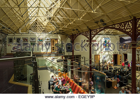 Interior of The Station, a converted railway station in Richmond, North Yorkshire, England. - Stock Photo