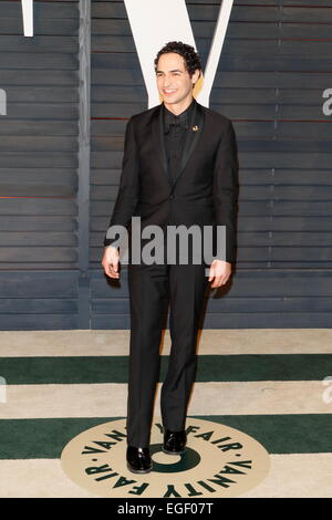 Designer Zac Posen attends the Vanity Fair Oscar Party at Wallis Annenberg Center for the Performing Arts in Beverly - Stock Photo