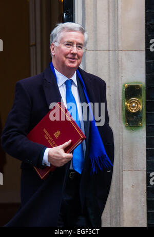 London, UK. 24th February, 2015. Ministers arrive at the weekly cabinet meeting at 10 Downing Street. PICTURED: - Stock Photo