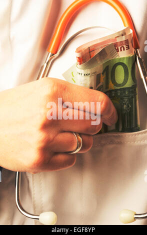 Symbol photo: Corrupt doctors. - Stock Photo