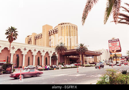 LAS VEGAS, NV - NOVEMBER 10 - The entrance to the Aladdin hotel in Las Vegas, Nevada, on November 10, 1997. - Stock Photo