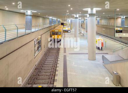 Bundestag U Bahn station, Berlin, Germany - Stock Photo