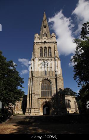 Parish Church of St Peter and St Paul, Kettering, Northamptonshire - Stock Photo