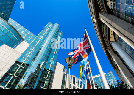 Brussels, EU parliament building - Stock Photo