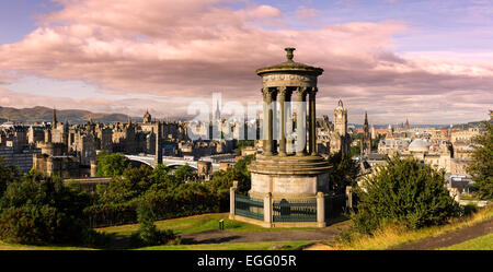 Edinburgh from Calton Hill - Stock Photo